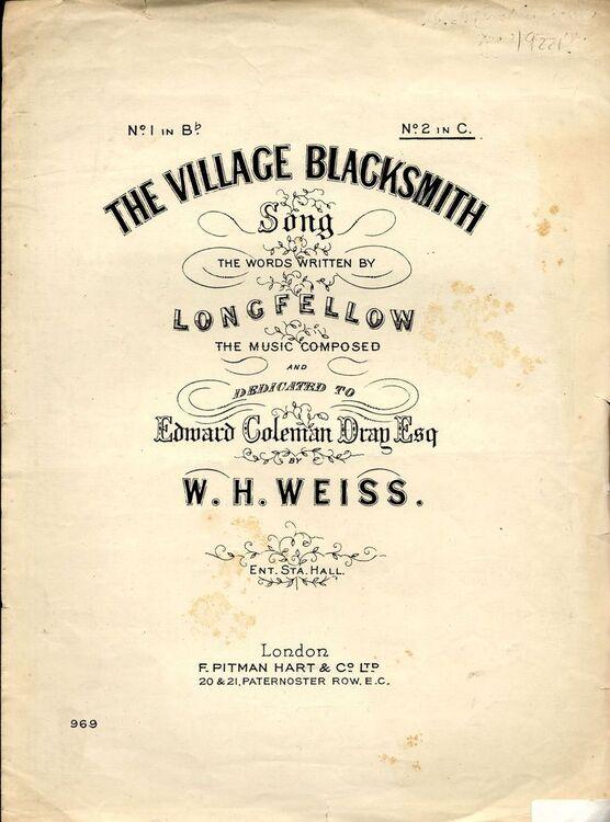 longfellow the village blacksmith