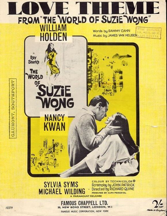 Love Theme From The World Of Suzie Wong For Piano With Chord