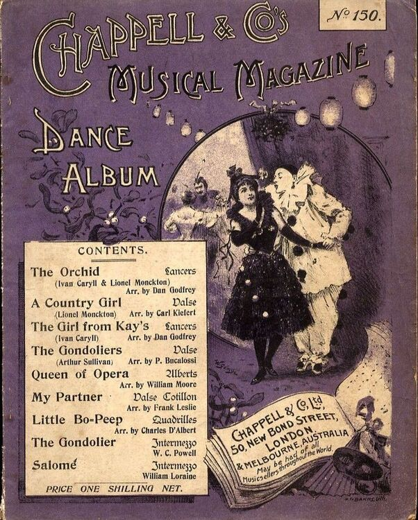 Chappell and Co's Musical Magazine - Dance Album - No  150 - For Piano Solo