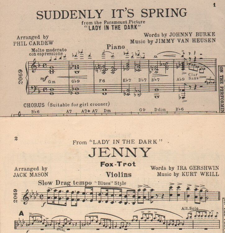 DANCE BAND with Vocals:- (a) 'Suddenly it's Spring' - from