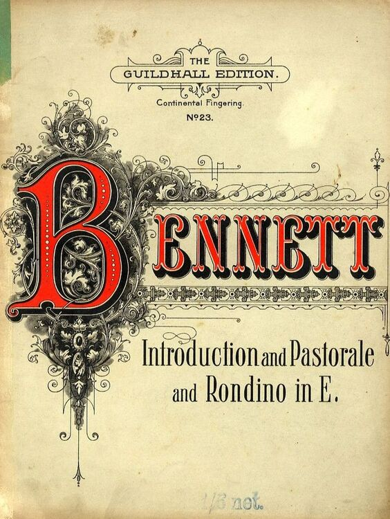 Introduction and Pastorale and Rondino in E - The Guildhall Edition No  23