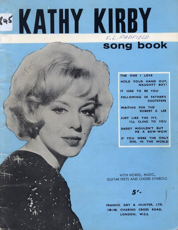 Kathy Kirby Song Book - With Words - Music - Guitar Frets - Chord ...