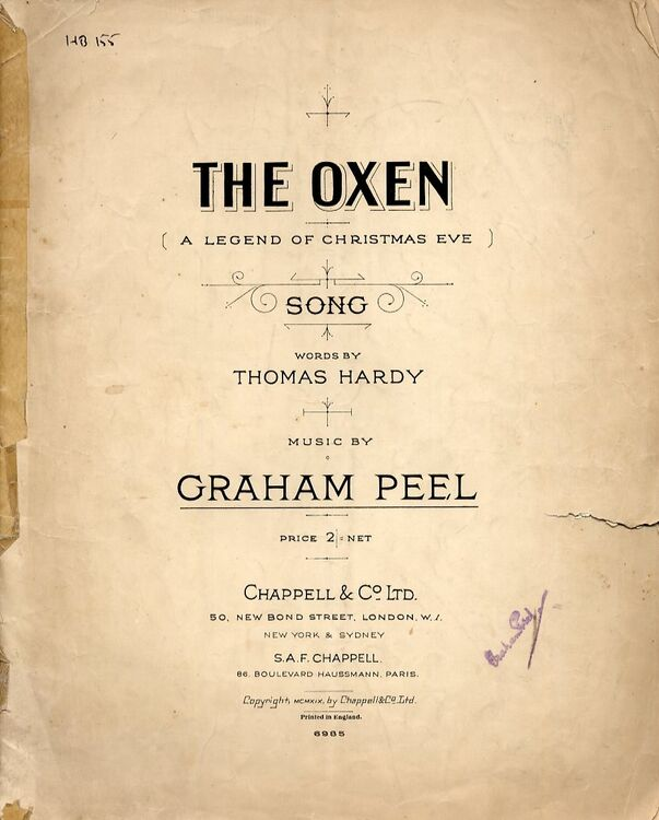The Oxen (A Legend of Christmas Eve) - Song only £9.00