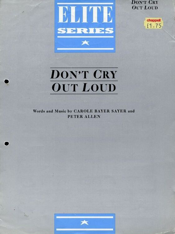 Don\'t Cry out loud - Elite series - For Piano and Voice with Guitar ...