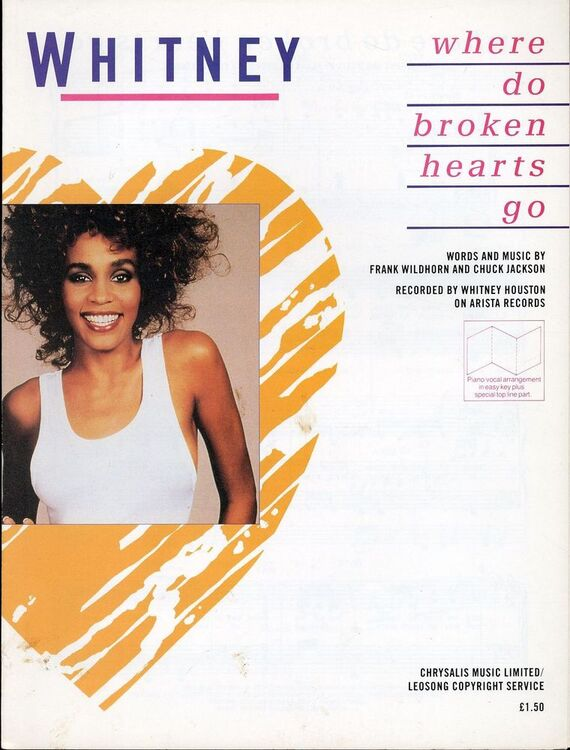 Where Do Broken Hearts Go Recorded By Whitney Houston On Arista