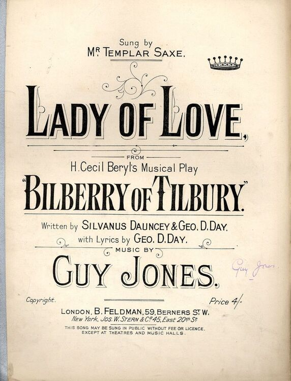 Lady of Love - From H  Cecil Beryl's musical play