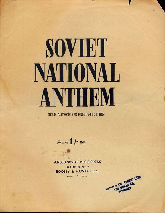 Soviet National Anthem - Song with words in English - Sole Authorised  English Edition