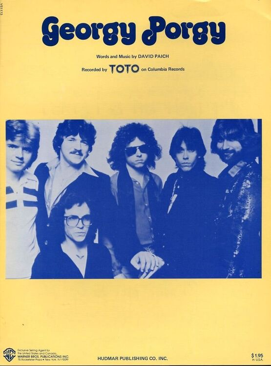 Georgy Porgy - Recorded by Toto on Columbia Records only £