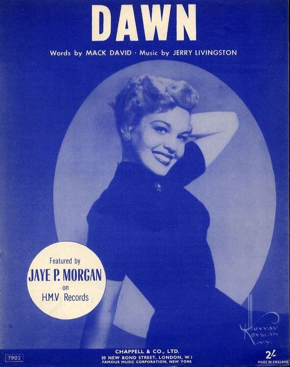 Dawn - Featured by Jaye P. Morgan on H.M.V. Records - For Piano ...