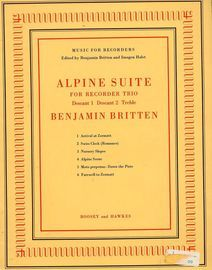 Alpine Suite for Recorder Trio - Descant 1, Descant 2, Treble