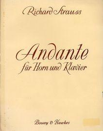 Andante fur Horn und Klavier - With Seperate Horn Score