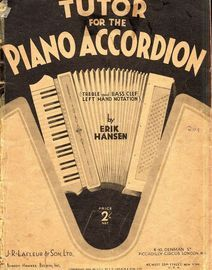 Tutor for the Piano Accordion - Treble and bass clef left hand notation