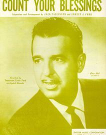 Count your blessings - Recorded by Tennessee Ernie Ford on Captiol Records - For Piano and Voice with chord symbols