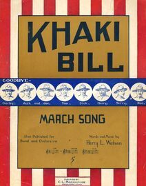 Khaki Bill - March Song - For Medium Voice and Piano