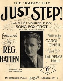 Just Step! (and let yourself go) - Song Fox Trot - For Piano and Voice  with Ukulele accompaniment - Featured by Reg Batten