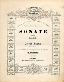 Sonate No. 1 in D Dur - Sonaten fur das Pianoforte von Joseph Haydn series No. 1