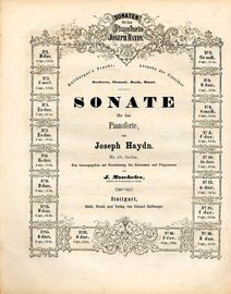 Sonate No. 10 in As dur - Sonaten fur das Pianoforte von Joseph Haydn series No. 10