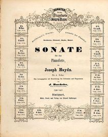 Sonate No. 4 in B Dur - Sonaten fur das Pianoforte von Joseph Haydn series No. 4