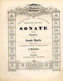 Sonate No. 8 in C dur - Sonaten fur das Pianoforte von Joseph Haydn series No. 8
