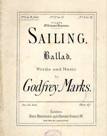Sailing - Ballad in the key of B flat major for lower voice