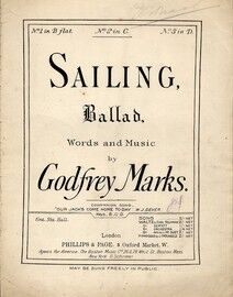 Sailing - Ballad in the key of C major for medium voice