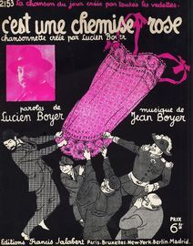 C'est une chemise Rose - For Piano and Voice with Ukulele chord symbols - Creee par Lucien Boyer - French Edition