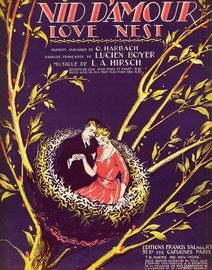 Nid D'Amour (Love Nest) - Fox trot for Piano Solo - French Edition