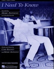 I Need to Know - Featuring Marc Anthony - Piano - Vocal - Guitar