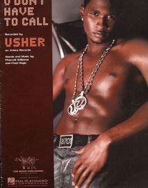 U Don\'t Have to Call - Featuring Usher - Piano - Vocal - Guitar
