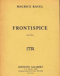 Frontispice (pour S.P. 503, poeme du Vardar, de R. Canudo) - For Two Pianos - French Edition