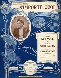 N'importe quoi - Cree par Mayol - For Piano and Voice - French Edition