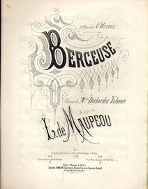 Berceuse - For Piano and Voice - French Edition