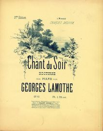 Chant du Soir - Nocturne pour Piano - Op. 61 - For Piano Solo - French Edition