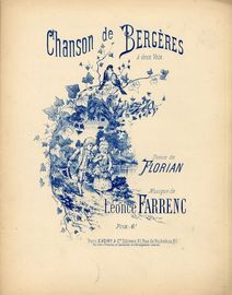 Chanson de Bergeres a deux Voix - For Two Voices with Piano - French Edition