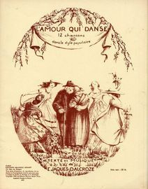 L'amour qui danse - 12 Chansons dans le style populaire - For Piano and Voice - French Edition