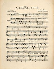 A Dream Love - Song for Voice and Piano