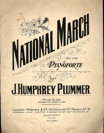 National March - For the Pianoforte