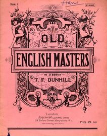 Old English Masters, for Piano - Book I - Edition No. 164