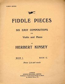 Six Easy Compositions for Violin and Piano - Book 1