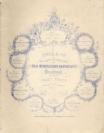 Athalie - Op. 74 - For Piano Duet - Ewer & Co.'s complete and uniform edition of Felix Mendelssohn Bartholdy's Overtures arranged for the Pianoforte s