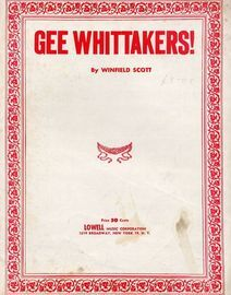 Gee Whittakers! - For Piano and Voice with Ukulele chord symbols