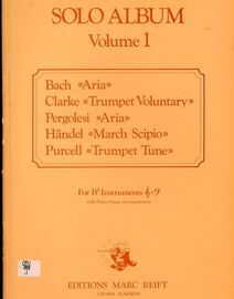 Solo Album - Volume 1 - For B flat instruments with Piano Organ accompaniment