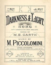 Darkness and Light - Song - Key of A flat major - For Piano and Voice