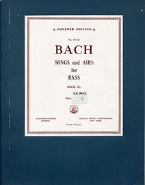 Bach -  40 Songs and Airs for  Contralto Bass - Book 11a -  Augeners Edition No. 4721d1