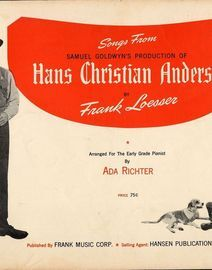 Songs from Hans Christian Anderson - For Piano and Voice with pictures