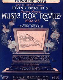 Crinoline Days - From Irving Berlin's Second Annual Music Box Revue - For Piano and Voice
