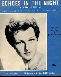 Echoes in the Night (Lassame Sunna) - Featured and Recorded by Jo Stafford - For Piano and Voice with chord symbols