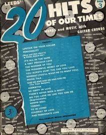 Leedsu0027 20 hits of our times - Book 3 - Words and Music with Guitar & The Doors Complete. A delux book of words music guitar chords ...