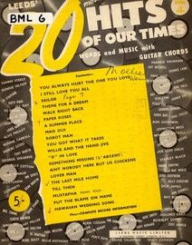 Leeds' 20 hits of our times - Book 4 -  Words and Music with Guitar Chords