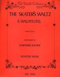 The Skaters' Waltz (Les Patineurs) - Piano Solo - The Walsh Collection